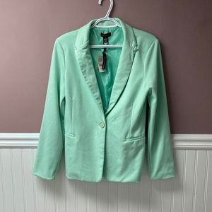 NWT Seductions mint blazer